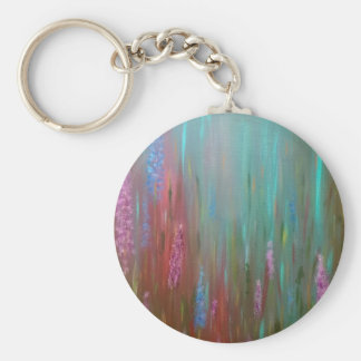 Abstract Wildflowers Keychain