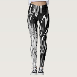 Abstract Winding Rivers Leggings