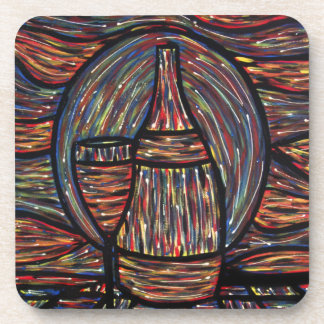 Abstract Wine Painting Coaster