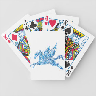 Abstract Winged Horse Bicycle Playing Cards