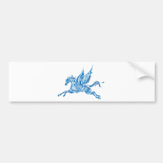Abstract Winged Horse Bumper Sticker