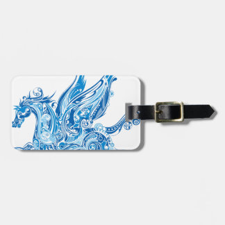 Abstract Winged Horse Luggage Tag