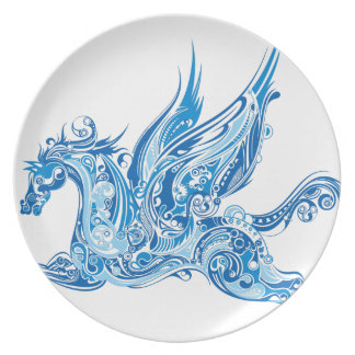 Abstract Winged Horse Plate