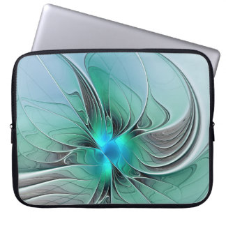 Abstract With Blue, Modern Fractal Art Laptop Sleeve