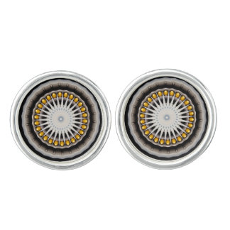 Abstract with dark yellow cufflinks