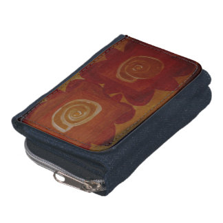 Abstract With Seashells Wallet