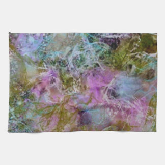 Abstract with swirling soft pastel colors kitchen towels