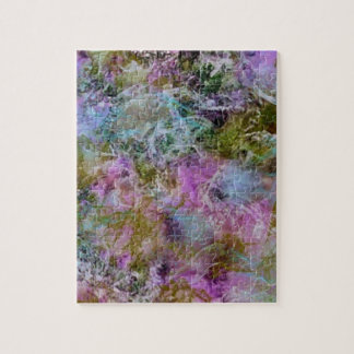 Abstract with swirling soft pastel colors puzzles