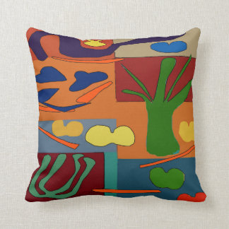 Abstract With Vegetables Throw Pillow
