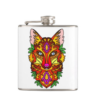 Abstract Wolf Flask