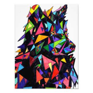 Abstract Wolf Side View Print Photograph