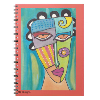 Abstract Woman Blue Notebook