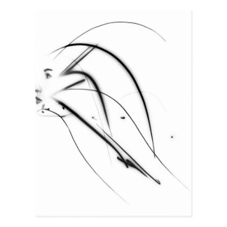 Abstract woman face postcard