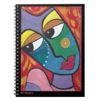 Abstract Woman Red Notebook