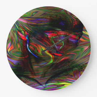 Abstract Woman Two Large Clock