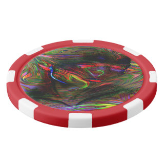 Abstract Woman Two Poker Chips