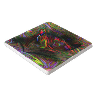 Abstract Woman Two Trivet