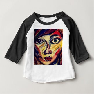Abstract woman's face baby T-Shirt