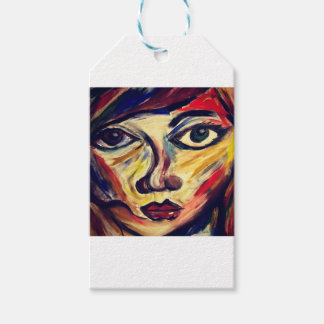 Abstract woman's face gift tags