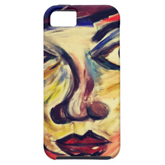 Abstract woman's face iPhone 5 cases