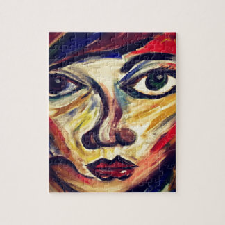 Abstract woman's face jigsaw puzzle