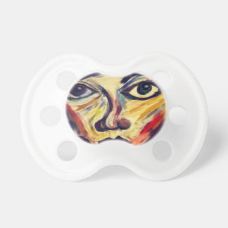 Abstract woman's face pacifier