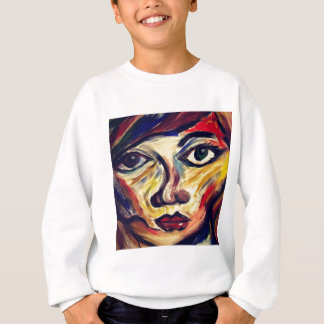 Abstract woman's face sweatshirt