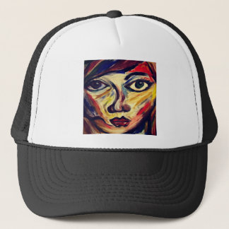 Abstract woman's face trucker hat