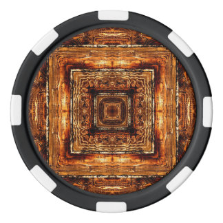 Abstract Wood Grain Texture Poker Chips