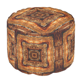 Abstract Wood Grain Texture Pouf