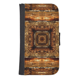 Abstract Wood Grain Texture Samsung S4 Wallet Case