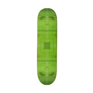 Abstract wood green pattern skate decks