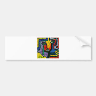 Abstract Wood painting Bumper Sticker