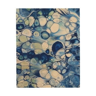 """Abstract Wood Wall Art """"Tranquil 2"""""""