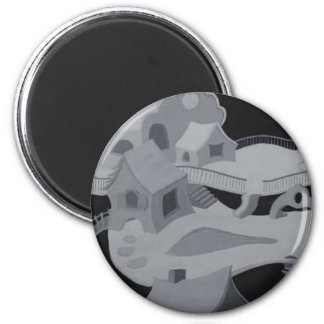 Abstract World 2 Inch Round Magnet