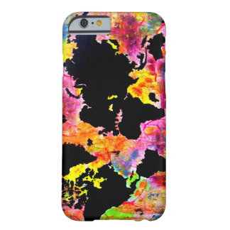 Abstract world map phone case
