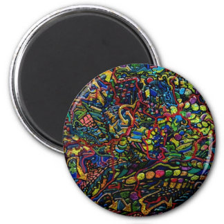 Abstract Worlds Delicate Balance 2 Inch Round Magnet