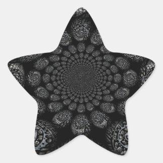 Abstract Worlds Distorted Spiral Star Sticker