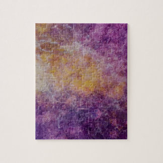 Abstract Yellow and Purple cloud, colourful design Jigsaw Puzzle