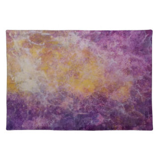 Abstract Yellow and Purple cloud, colourful design Placemat