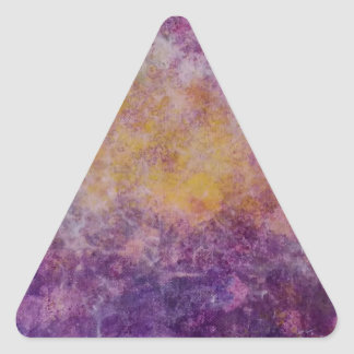 Abstract Yellow and Purple cloud, colourful design Triangle Sticker