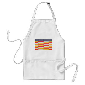 Abstract Yellow and Red Design Standard Apron