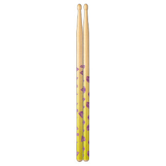 abstract yellow drumsticks