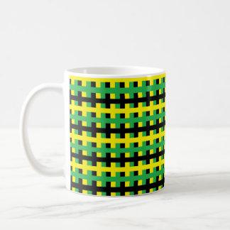 Abstract Yellow, Green and Black Coffee Mug