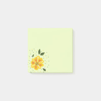 Abstract Yellow Primrose Spring Flower Post-it® Notes