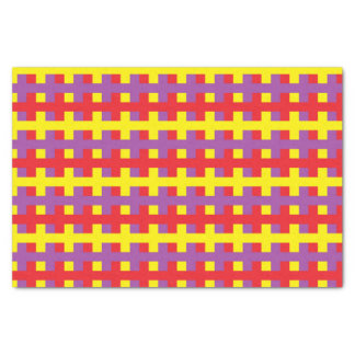 Abstract Yellow, Purple and Red Tissue Paper