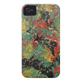 Abstract Yellow & Red iPhone 4 Cases