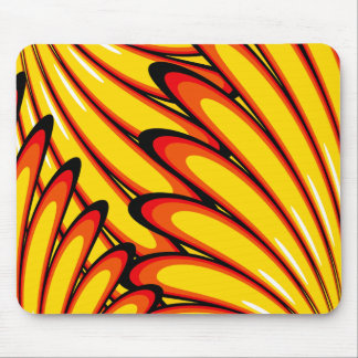 abstract yellow sunflowers mousepad