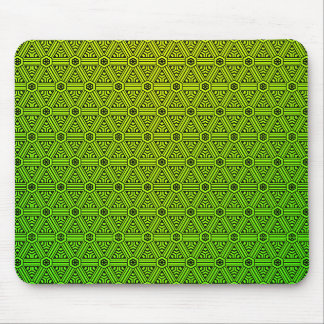 Abstract Yellow to Green Mouse Pad