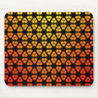 Abstract Yellow to Orange Mouse Pad
